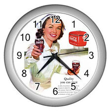 Wall Clock Nurse With Ice Cold - Coca-Cola Coke Retro Ads 1952 Retro Rare !