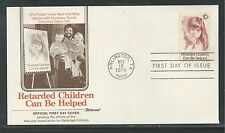 # 1549 RETARDED CHILDREN CAN BE HELPED 1974 (Single) Fleetwood First Day Cover