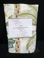 Pottery Barn Westwood Bolster Bed Pillow Cover Sham Vintage Tropical Palm Trees