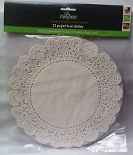 White Round Paper Floral Lace Cake Liner Craft Doilies 10 Inch 24 Pack 4373 NEW