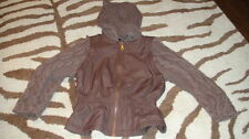 BOUTIQUE LILI GAUFRETTE 5 BROWN CROCHETED COAT OR VEST OPTION GIRLS