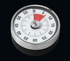 """Cilio """"Pure"""" Large Stainless Steel Gauge Style Magnetic Kitchen Timer"""