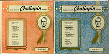 Lot of 2 Russian Art Song LPs CHALIAPIN SINGS Scala 801 & 807