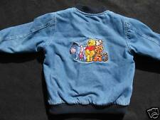 DISNEY Winnie the Pooh Blue Denim Jacket, Coat, Long Sleeved, Girls Boys, 4, 4T