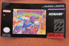 Sunset Riders Super Nintendo Snes Cartridge Replacement Game Label Sticker