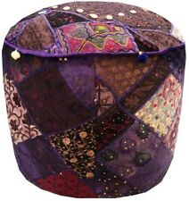 "24""  EXQUISITE DÉCOR KUTCH OTTOMAN POUF FURNITURE CHAIR STOOL BENCH PILLOW COVER"
