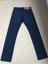 Nuevo Para hombres Levis 504 Regular Straight Azul Marino Oscuro Jeans W29 L34 (1276)