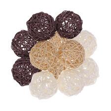 12Set 7cm Wicker Rattan Balls Home Christmas Wedding Party Decorative Crafts
