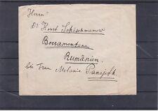 Brief von Wien nach Rumänien frankiert mit Frauenkopf und Kornährensatz