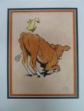 CECIL ALDIN Ups and Downs: Farm Babies No XXII Original Chromolithograph 1911