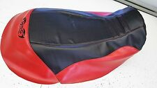 can am can-am renegade 500 custom   seat cover  1/4 foam red / black gripper top
