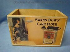 Swans Down Cake Flour Wooden Box Decorative Retro Kitchen Art 1950s