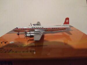 """*****RARE*****AeroClassics SWISSAIR """"DELIVERY COLORS"""" DC-7C """"SEVEN SEAS"""" HB-IBP"""