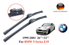 "BMW 5 Wiper Blades Tech E39 22"" 550mm & 26"" 650mm Made in Germany Original New"