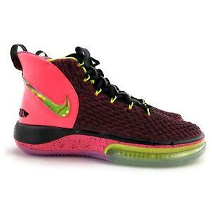 Nike Men's Alphadunk Racer Pink Volt Black Basketball Shoes BQ5401-600 Size 11