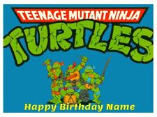 TEENAGE MUTANT NINJA TURTLES A4 (25.5cm x 19cm) EDIBLE ICING IMAGE CAKE TOPPERS