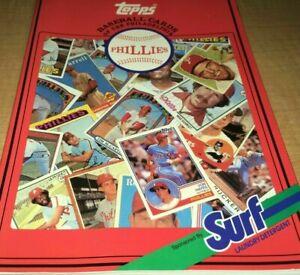1987 SurfTopps  Detergent Philadelphia Phillies Baseball Cards 1952-1986
