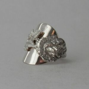 Solid Silver Spoon Ring Gorgeous Unusual Handmade Chunky Antique Stem Rose