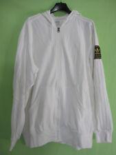 Veste Adidas à capuche Originals Blanche Coton Jacket Homme - L / XL