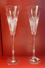 2016 Waterford Times Square Wonder Flute Pair Brand Nib #40005066 Clear Crystal