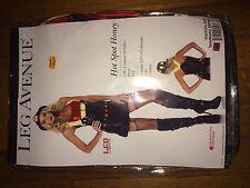 Leg Avenue Sexy Hot Led Fire Fighter Women's Costume L/g