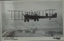 Flight International Photo Vickers Virginia Royal Air Force Postcard