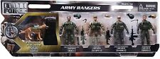 Elite Force Army Rangers 5 Pack Figures Toy Military 1:18 Role Play Imagination
