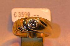 Ring 585/- Gelbgold mit 1 lupenreinen Brillant-Solitär 0.29ct., Weite W-55 1/2
