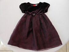 Girl's size 4T Holiday A-line Purple Velvet Dress with Rhinestone detail - EUC!