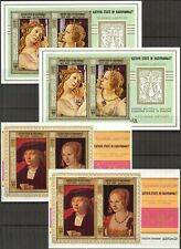 055 x2 Aden / Hadhramaut Art Paintings Durer Botticelli 2 S/S MNH**