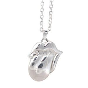 The Rolling Stones Silver Tongue Necklace
