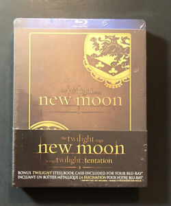 The Twilight Saga NEW Moon [ Limited Edition STEELBOOK Box ] (Blu-ray Disc) NEW