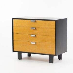 1950s George Nelson Herman Miller Primavera Two Tone Four Drawer Dresser Cabinet