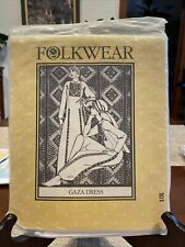 Vintage Folkwear Pattern Gaza Dress Costume Reenactment