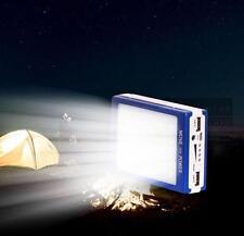 USA 50000mah Solar Panel Power Bank 2 LED 2 USB Battery Charger For Mobile Phone