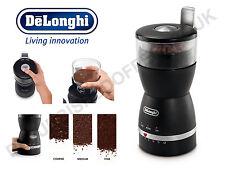 DeLonghi KG49 Electric Coffee Grinder Push to Grind Coarse Medium Fine 12 Cups