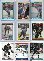 "Wayne Gretzky ""The Great One"" Lot of (9) Different Vintage 1984 1987 HOF EX"