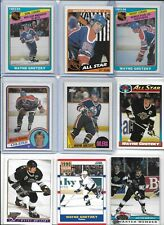 """Wayne Gretzky """"The Great One"""" Lot of (9) Different Vintage 1984 1987 HOF EX"""