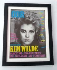 KIM WILDE*OOR*1982*ORIGINAL*COVER*POSTER*FRAMED*FAST WORLD SHIP