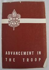 Vintage 1950 Advancement in the Troop Booklet Boy Scouts BSA Leader Guide
