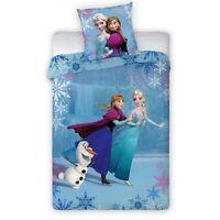 Housse de couette La reine de neiges, Parure de lit Frozen 140x200 cm