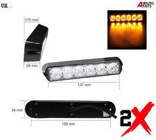 2x 6 LED Strobe Flashing Recovery Lightbar 12V Amber Truck beacon Lights 12V 24V