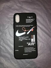 Nike off white silicone case Black new! Iphone X