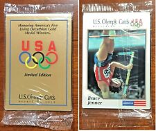 1991 IMPEL USA OLYMPIC DECATHLON GOLD 5 CARD FACTORY SEALED SET BRUCE JENNER