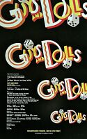 GUYS AND DOLLS ORIGINAL BROADWAY WINDOW CARD POSTER 1992 REVIVAL NATHAN LANE