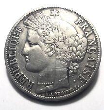 Broche Orné D'une Pièce En Argent De 5 Francs CERES  1850