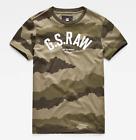 G-Star Raw Men's Dark Shamrock/Asfalt Desert Camo Print Short Sleeve T-Shirt