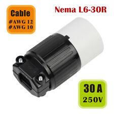 Nema L6-30R Replacement 30 Amp 250 Volt Female Twist Lock 3 Wire Power Cord Plug