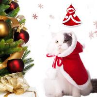 Hund Katze Kostüm Weihnachten Umhang Verkleidung Kleidung für Katzen Anzug