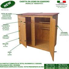 Casetta BONIFATO addossata armadio in legno attrezzi porta doppia ricovero box